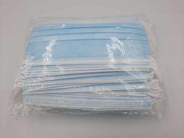 Maseczki pp3 z drucikiem kolor niebieski