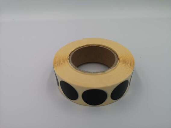 Zaklejki samoprzylepne do tarcz, 20 mm, kolor czarny, 2000 szt.