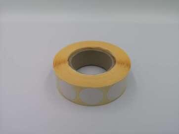 Zaklejki samoprzylepne do tarcz, 20 mm, kolor biały, 2000 szt.