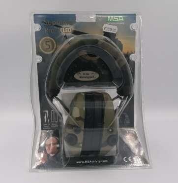 Ochronniki słuchu aktywne msa Supreme Pro-X + LED - Multicam / Woodland