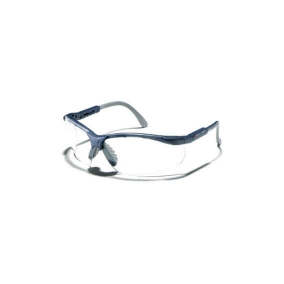 Okulary ZEKLER 55 bezbarwne, oprawki czarno-szare