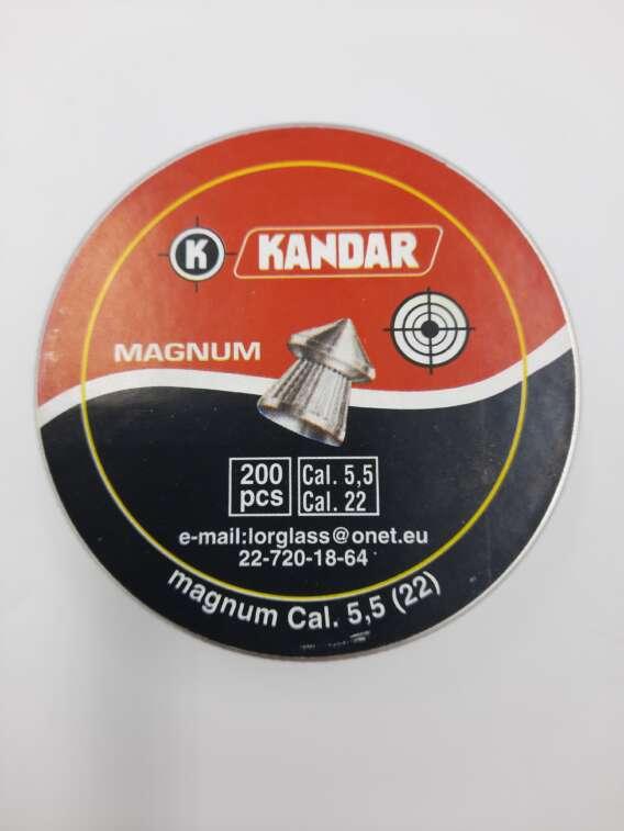 Śrut do wiatrówki firmy Kandar 5,5 mm